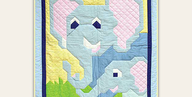 Mom and Baby Elephant Quilt Pattern