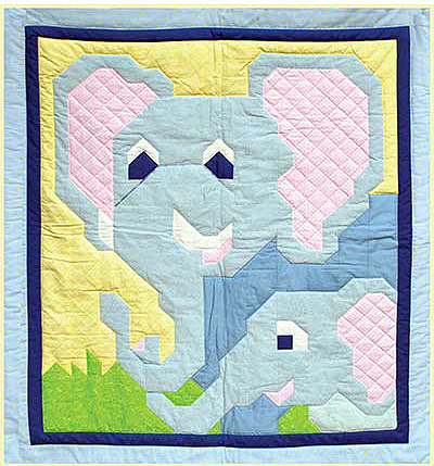 Mom and Baby Elephants Quilt Pattern