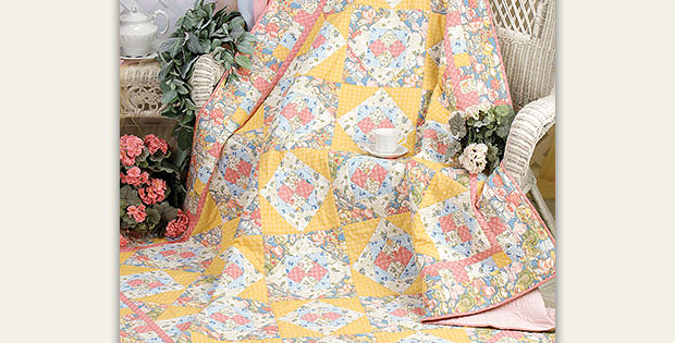 Mama's Teacups Four-Patch Quilt Pattern