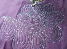 Paisley Feather Machine Quilting Tutorial