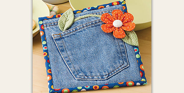 Posy in My Pocket Hot Pad Pattern