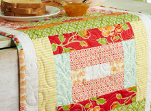 Strippy and Bright Table Runner Pattern