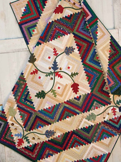 Cabin in the Oaks Quilt Pattern