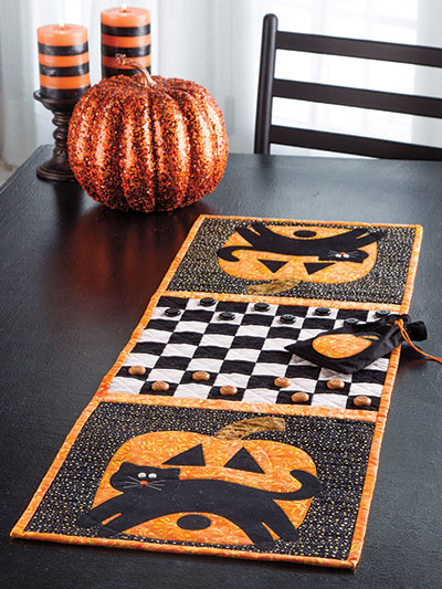 Scaredy Cat Table Runner Pattern