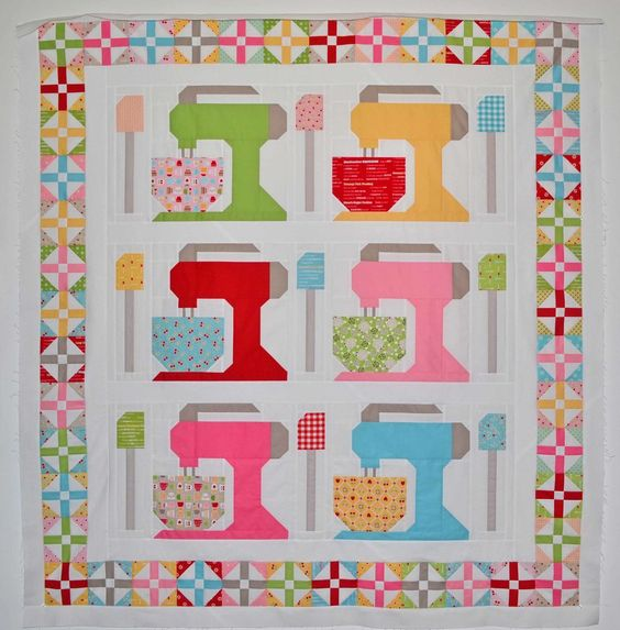 The bakers in your life will love these mixers quilting for Kitchen quilting ideas