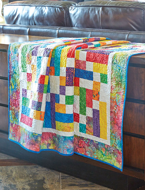 Bright Strips Make a Fun and Festive Quilt - Quilting Digest : uniquely yours quilt shop - Adamdwight.com