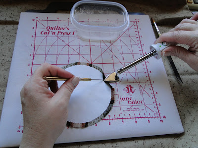 Turning the Seam Allowance for Hand Applique by Machine