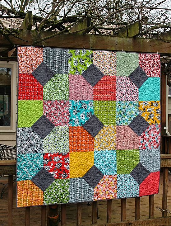 Layers of Charm Lap Quilt