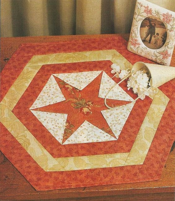 Hexagon Star Table Mat Pattern