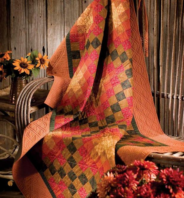Autumn Irish Chain Quilt Pattern