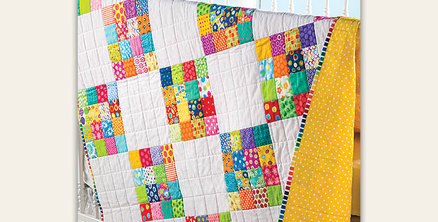 Color Squared Baby Quilt Pattern