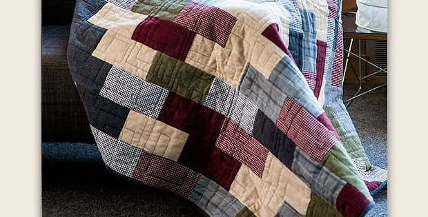 Flannel Brick Road Quilt Pattern