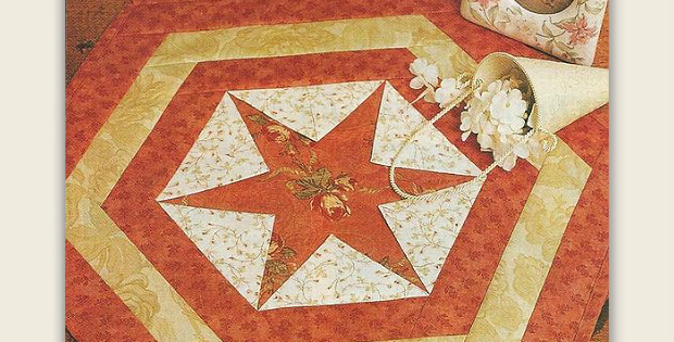 An Easy Versatile Table Mat for Any Time of Year - Quilting Digest : hexagon star quilt pattern - Adamdwight.com