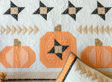 Pumpkin Sky Wall Hanging and Pillow Pattern
