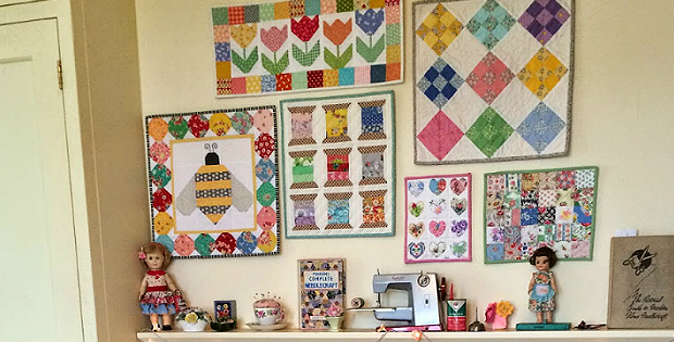 How to Hang a Small Wall Quilt - Quilting Digest : quilting wall - Adamdwight.com