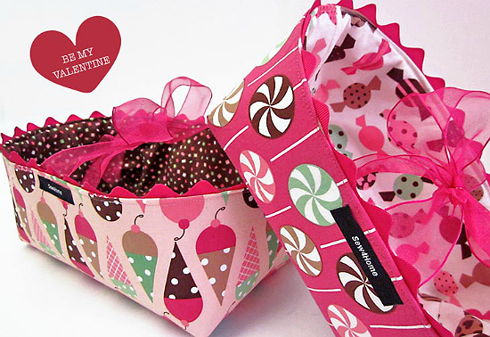 Fabric Gift Baskets Tutorial