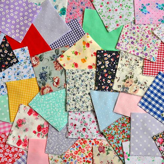 Random Fabric Squares