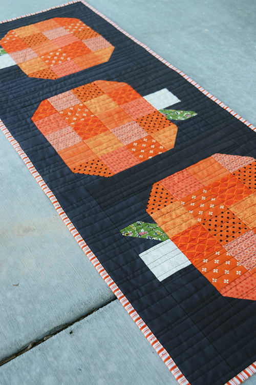 Fall Pumpkin Table Runner Tutorial