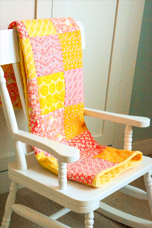 Minky Backed Baby Quilt - How to Quilt with Minky