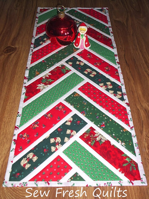 Broken Herringbone Christmas Runner