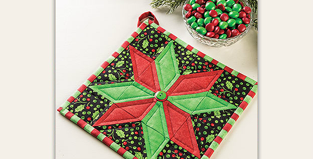 Christmas Star Pot Holder Pattern