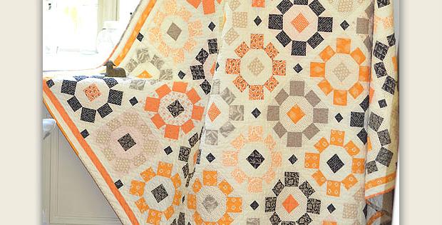Halloween Blooms Quilt Pattern