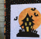 Halloween House Table Topper or Wall Hanging