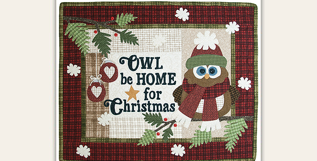 Owl Be Home for Christmas Quilt Pattern
