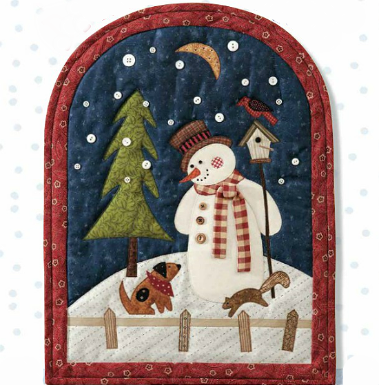Snowy Day Pals Wall Hanging Pattern