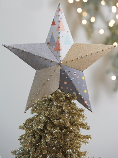 Fabric Tree Topper and Ornaments Pattern
