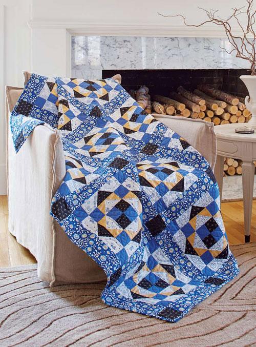 Prussian Blue Quilt Pattern