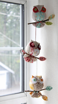 Owl on a Stick Ornaments