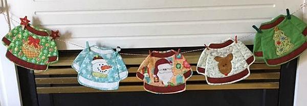 Ugly Christmas Sweater Mugs Rugs Pattern