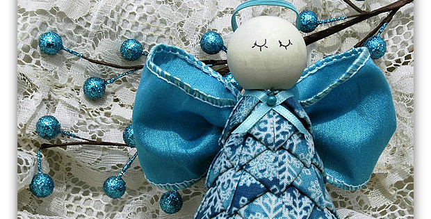 No Sew Fabric Angel Ornament Pattern