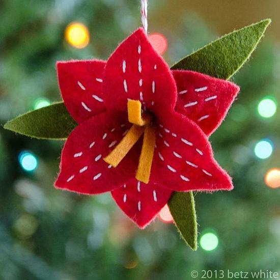 Christmas Amaryllis Ornament