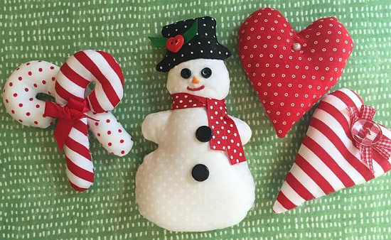 Soft Christmas Ornaments Pattern