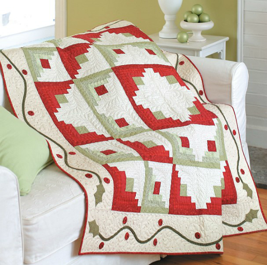 Holly Log Cabin Quilt Pattern