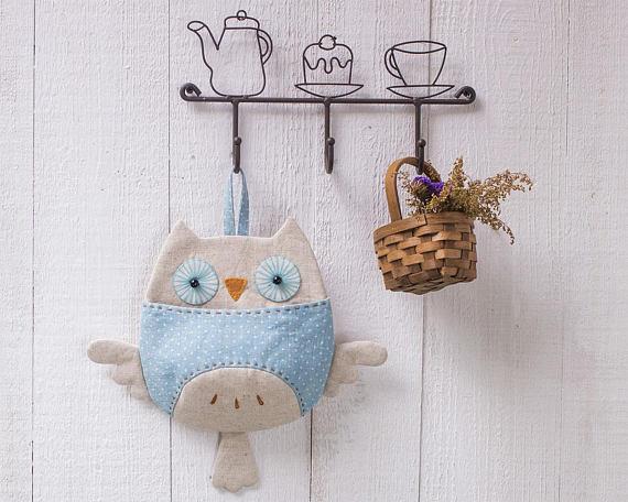 Owl Wall Pocket Organizer