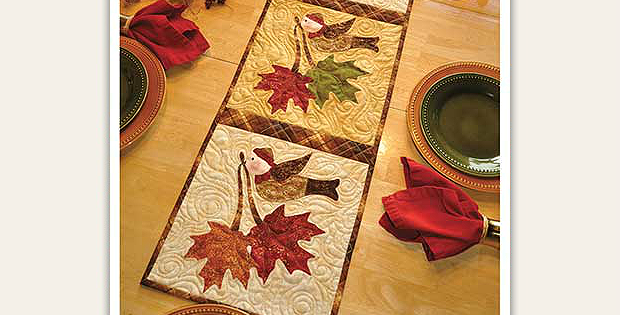 Vintage November Table Runner Pattern