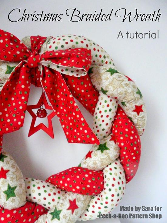 Braided Fabric Wreath Tutorial