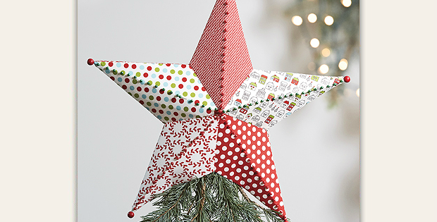 Fabric Tree Topper and Ornament Pattern