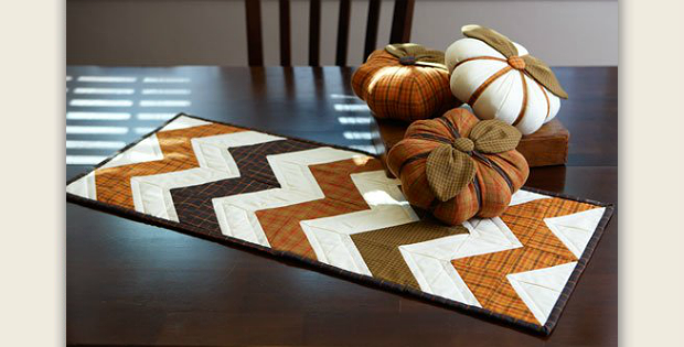 Table Runner and Pumpkins Pattern