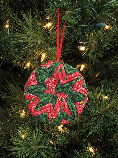 Pinwheel No-Sew Ornament Pattern