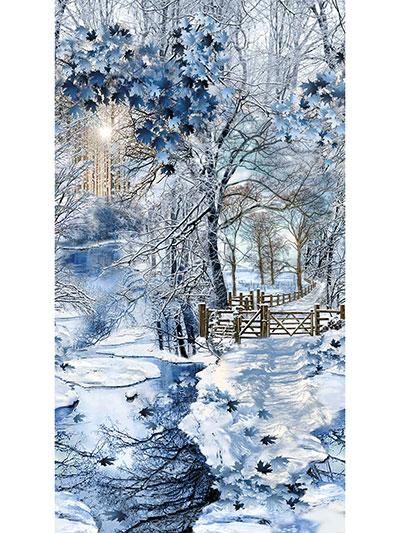 Scenic Snowfall Fabric Panel