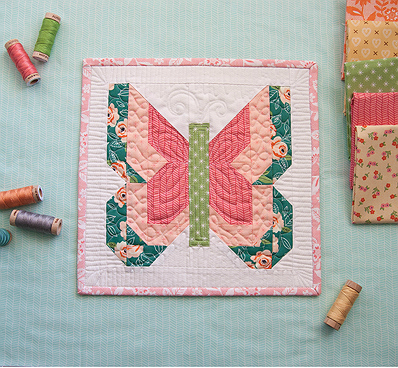 Social Butterfly Mini Quilt Pattern