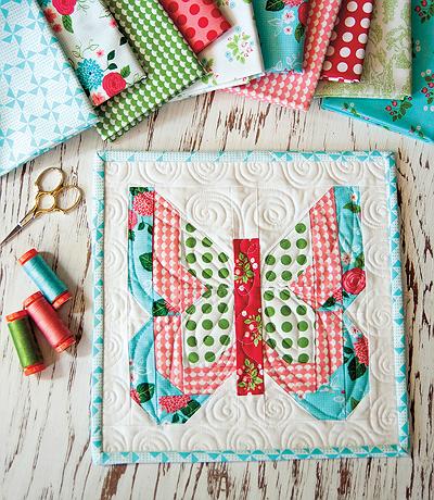 Social Butterfly Mini Quilt Pattern