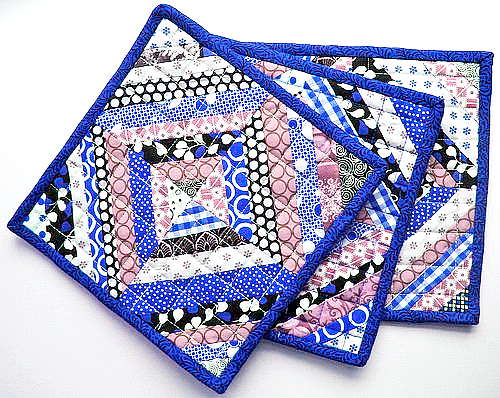 String Pieced Pot Holders
