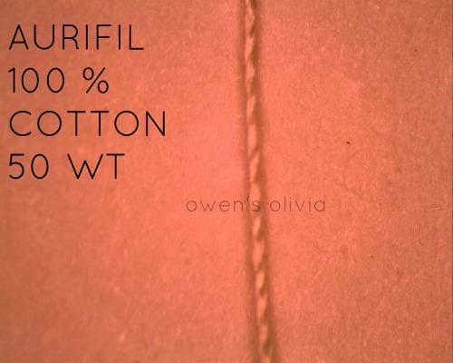 Aurifil Thread Under the Microscope