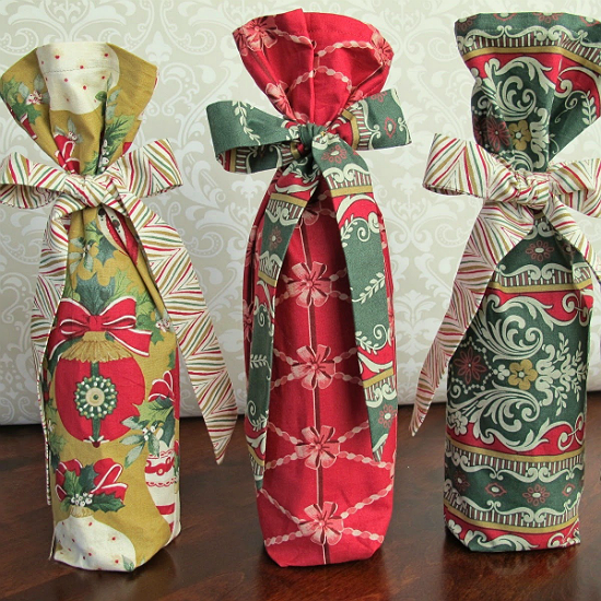 Fabric Wine Gift Bag Tutorial