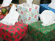 Reversible Tissue Box Cover Tutorial